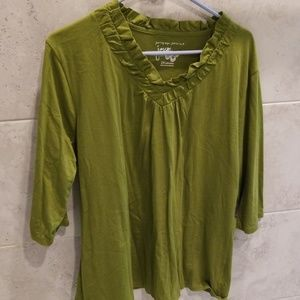 Just My Size green Tshirt 2X